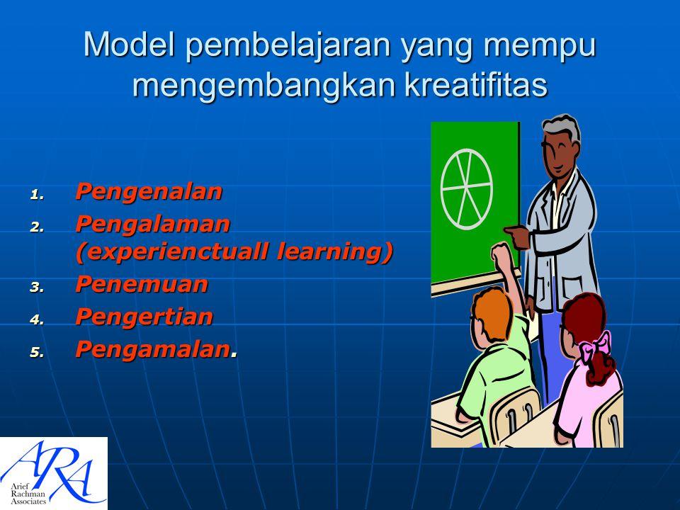 Model pembelajaran yang mempu mengembangkan kreatifitas
