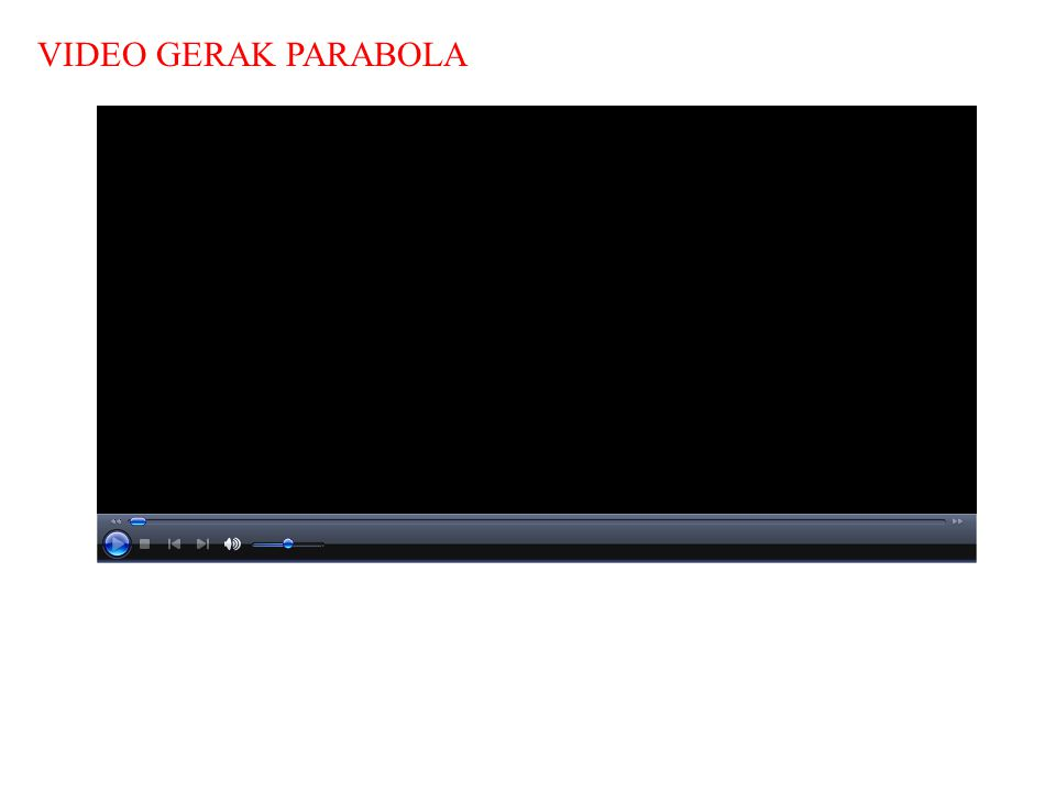 VIDEO GERAK PARABOLA