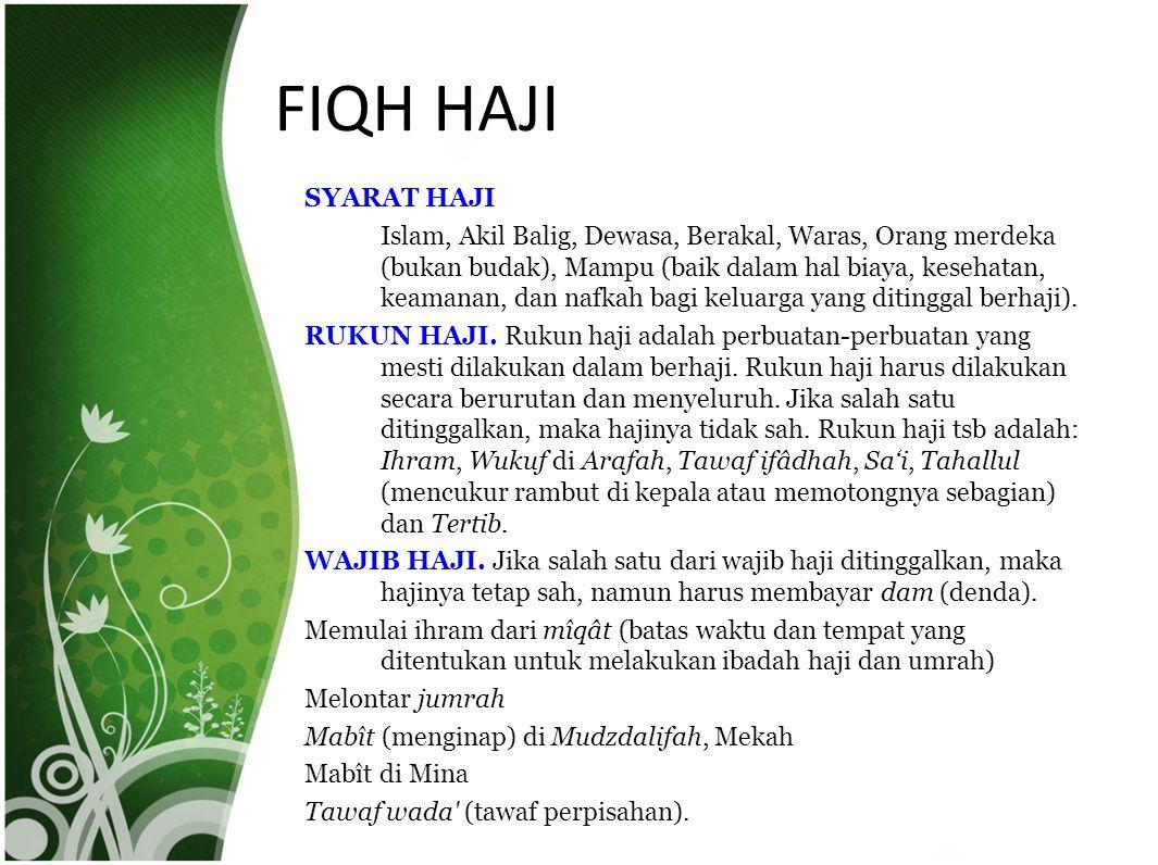 FIQH HAJI