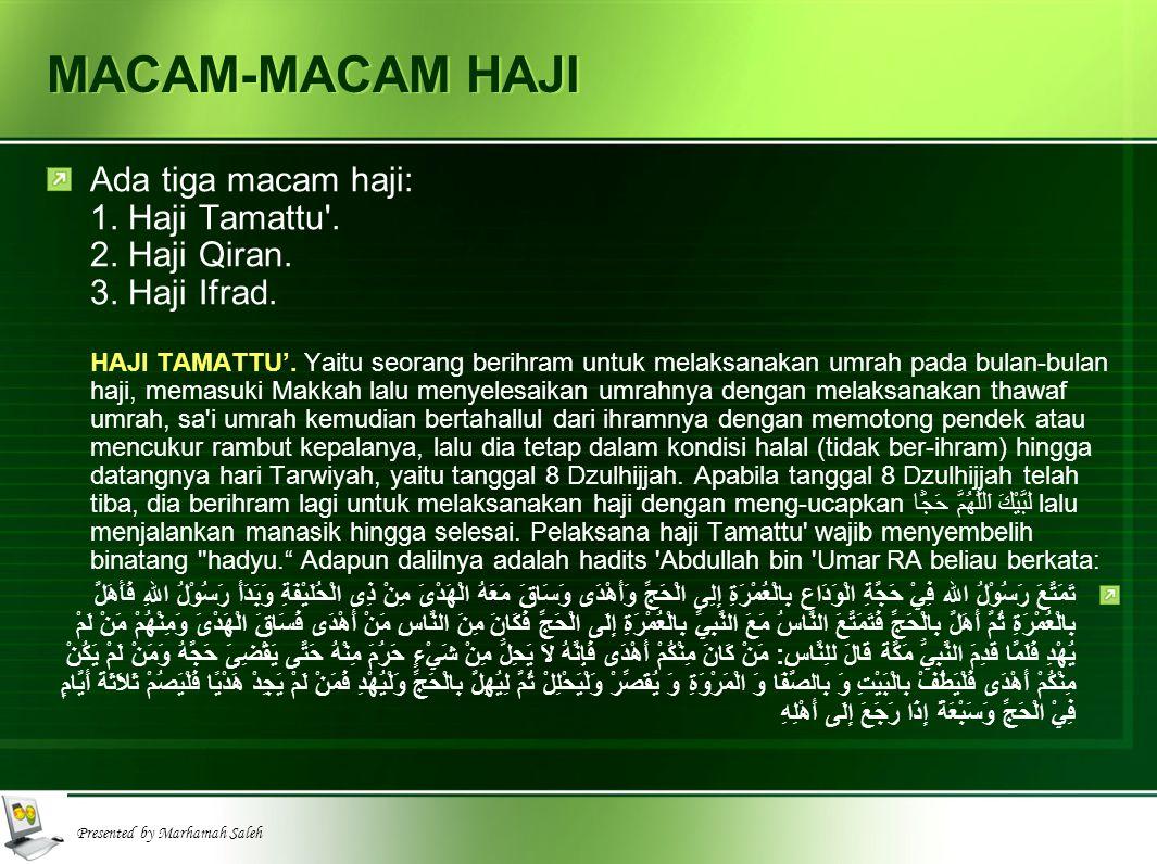MACAM-MACAM HAJI