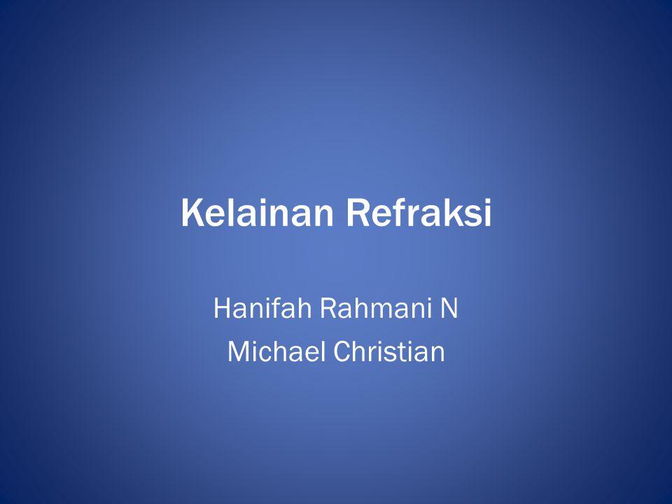 Hanifah Rahmani N Michael Christian