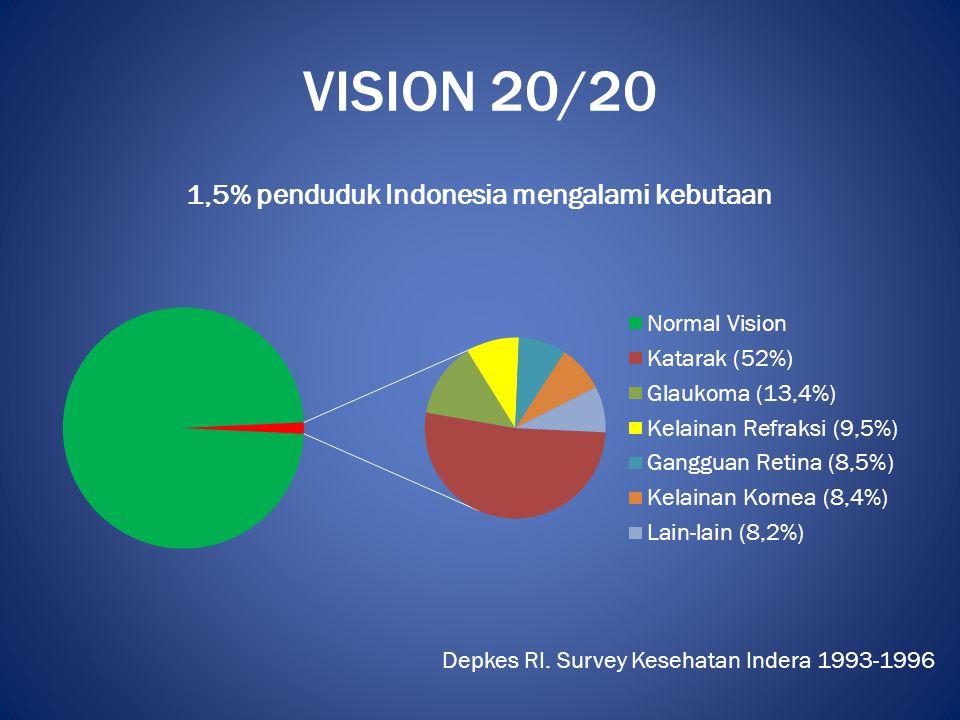 VISION 20/20 Depkes RI. Survey Kesehatan Indera 1993-1996