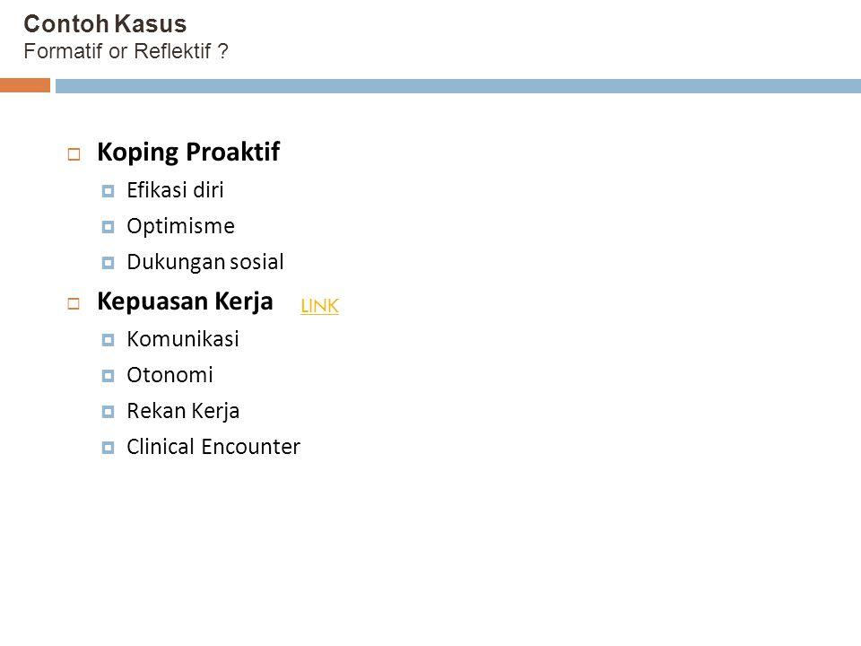 Contoh Kasus Formatif or Reflektif