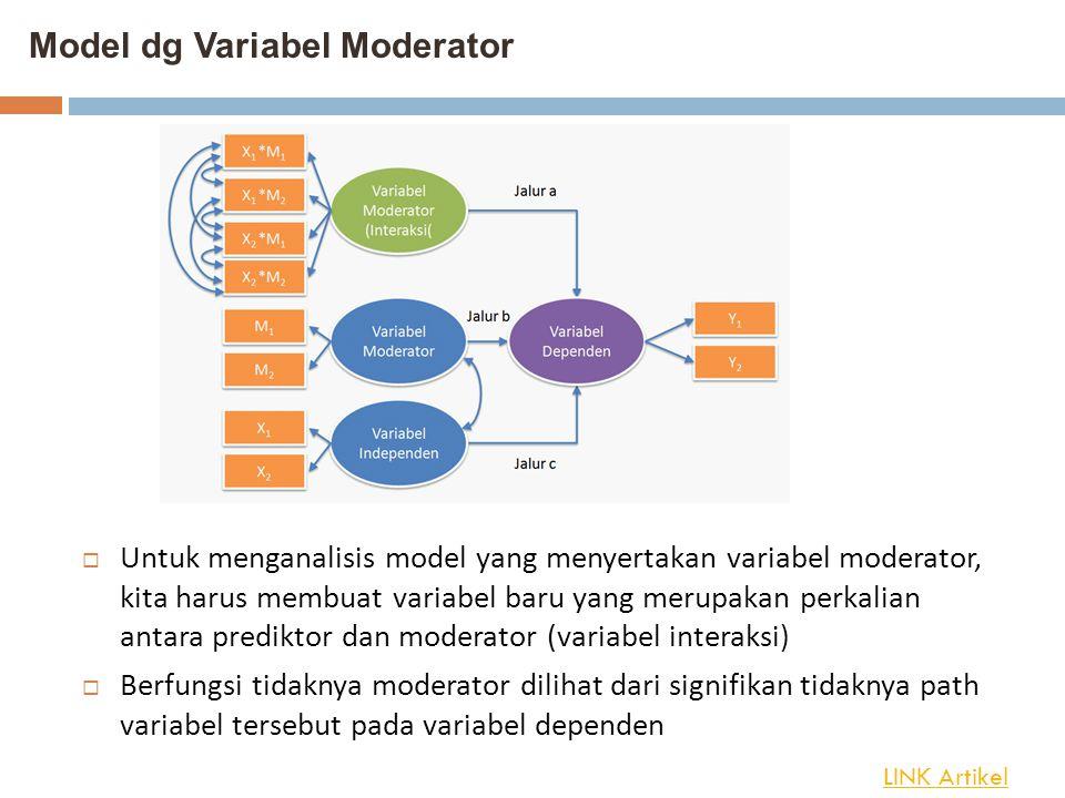 Model dg Variabel Moderator