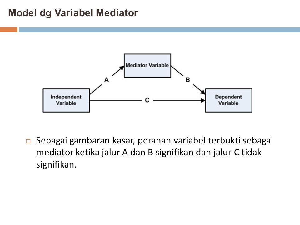 Model dg Variabel Mediator