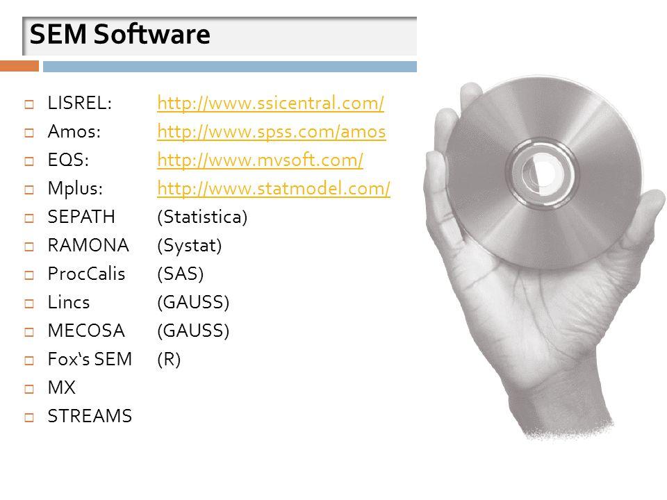 SEM Software LISREL: http://www.ssicentral.com/