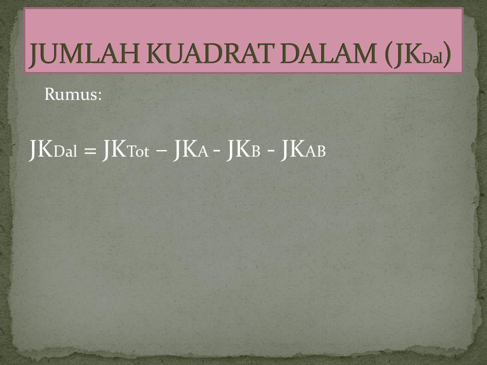 JUMLAH KUADRAT DALAM (JKDal)