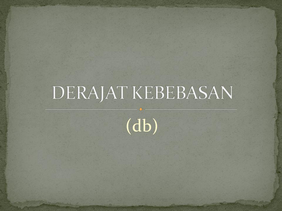 DERAJAT KEBEBASAN (db)