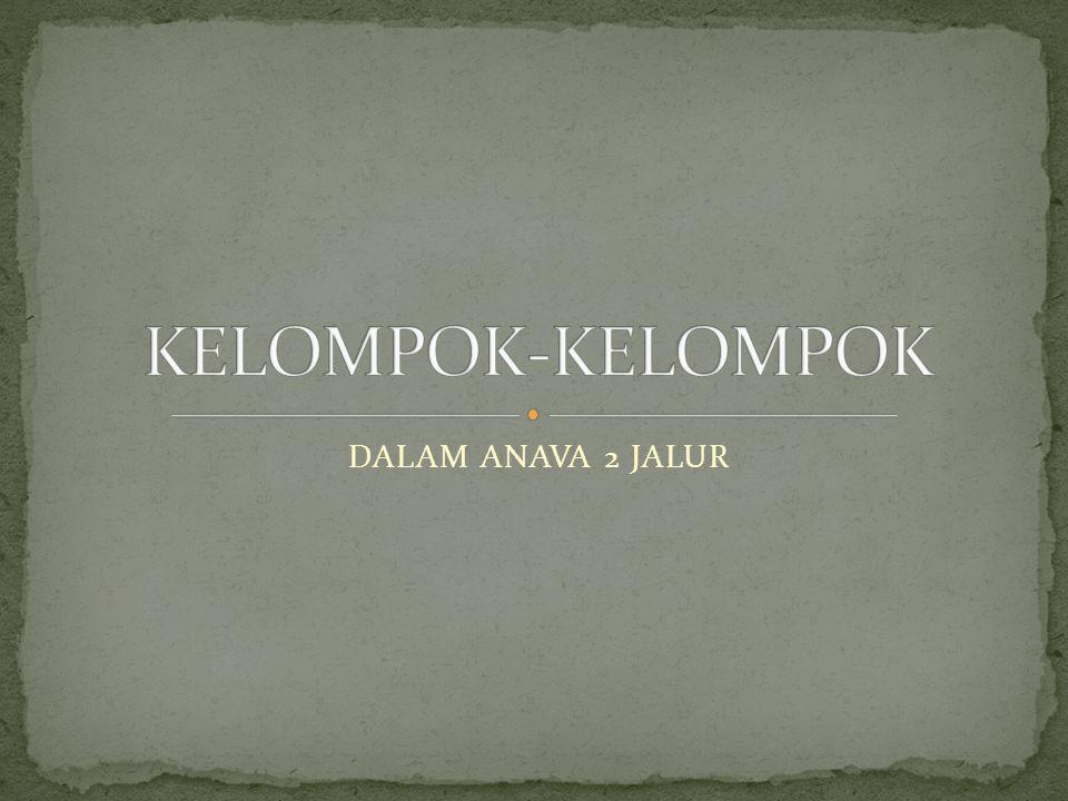 KELOMPOK-KELOMPOK DALAM ANAVA 2 JALUR