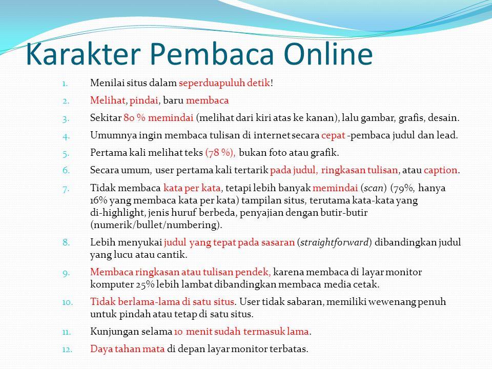 Karakter Pembaca Online