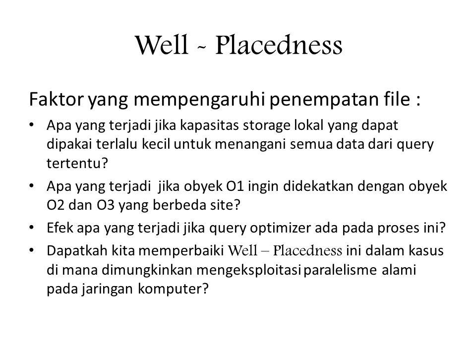 Well - Placedness Faktor yang mempengaruhi penempatan file :