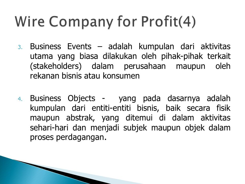 Wire Company for Profit(4)