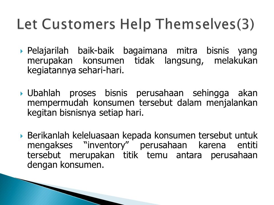 Let Customers Help Themselves(3)