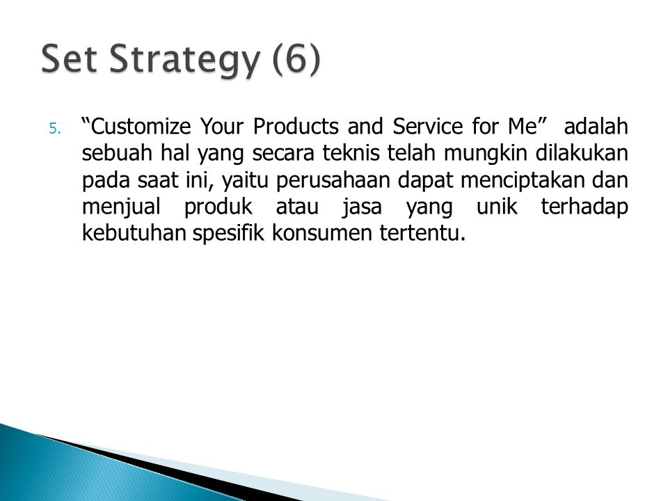 Set Strategy (6)