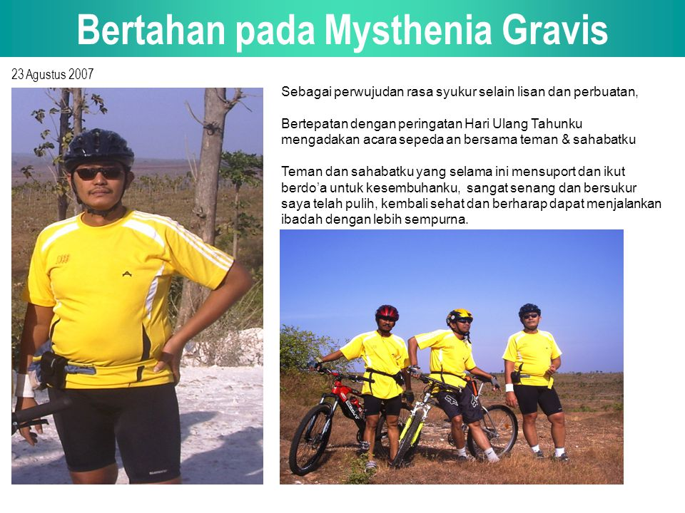Bertahan pada Mysthenia Gravis