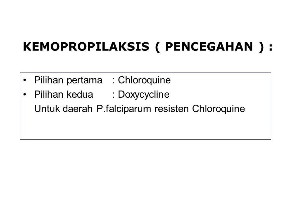 KEMOPROPILAKSIS ( PENCEGAHAN ) :