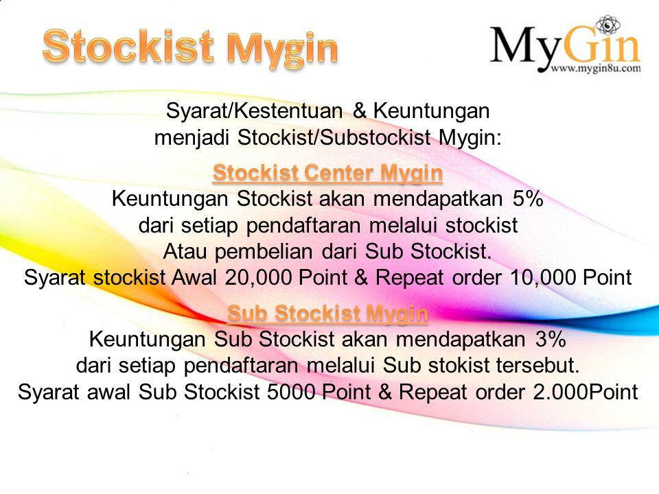 Stockist Mygin Syarat/Kestentuan & Keuntungan