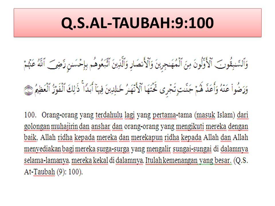 Q.S.AL-TAUBAH:9:100