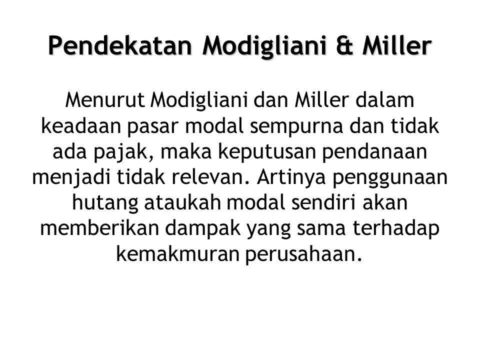 Pendekatan Modigliani & Miller