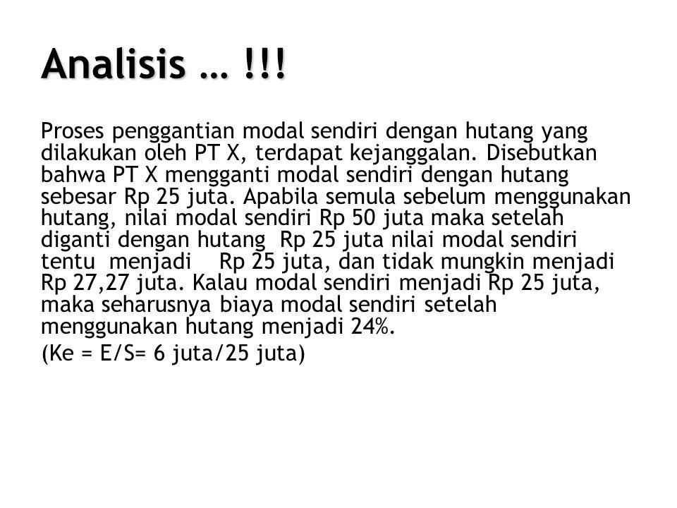 Analisis … !!!