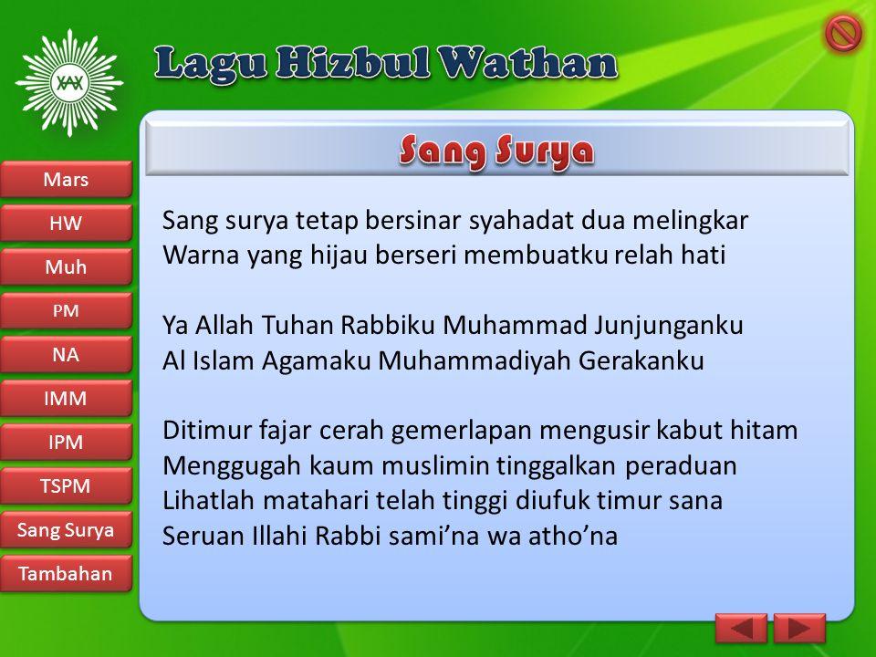 Lagu Hizbul Wathan Sang Surya