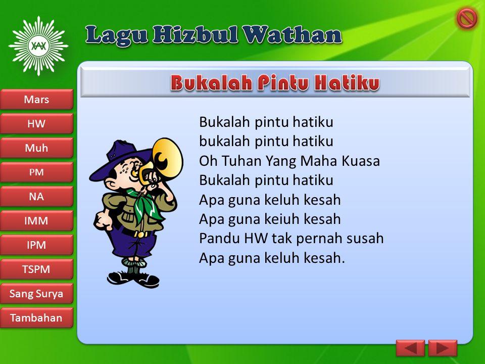 Lagu Hizbul Wathan Bukalah Pintu Hatiku Bukalah pintu hatiku