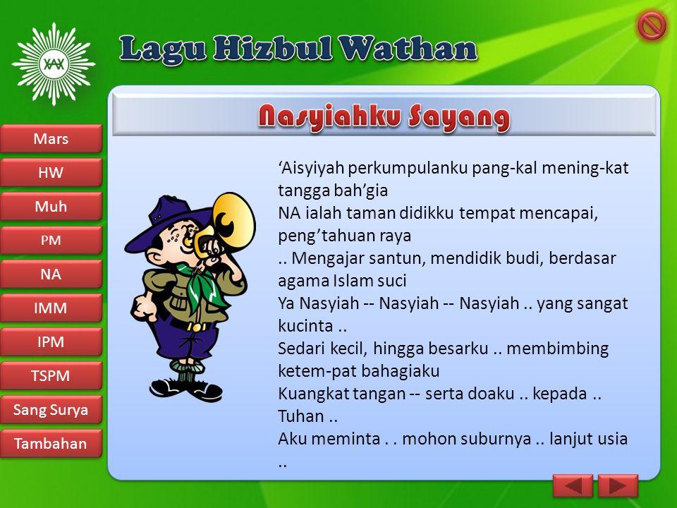 Lagu Hizbul Wathan Nasyiahku Sayang