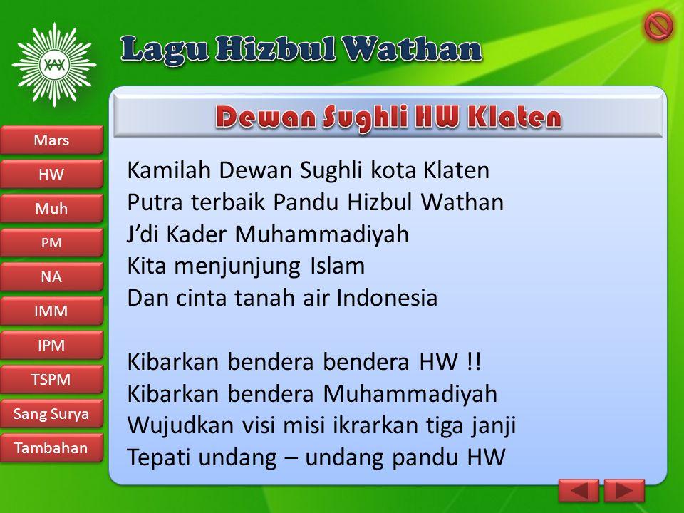 Lagu Hizbul Wathan Dewan Sughli HW Klaten