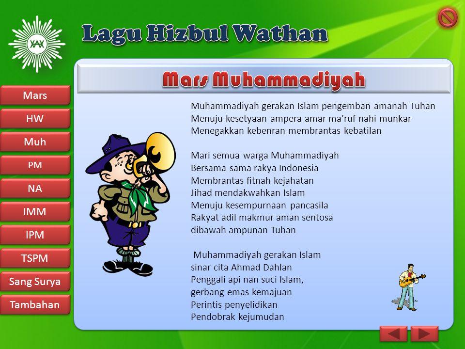 Lagu Hizbul Wathan Mars Muhammadiyah Mars HW Muh NA IMM IPM TSPM