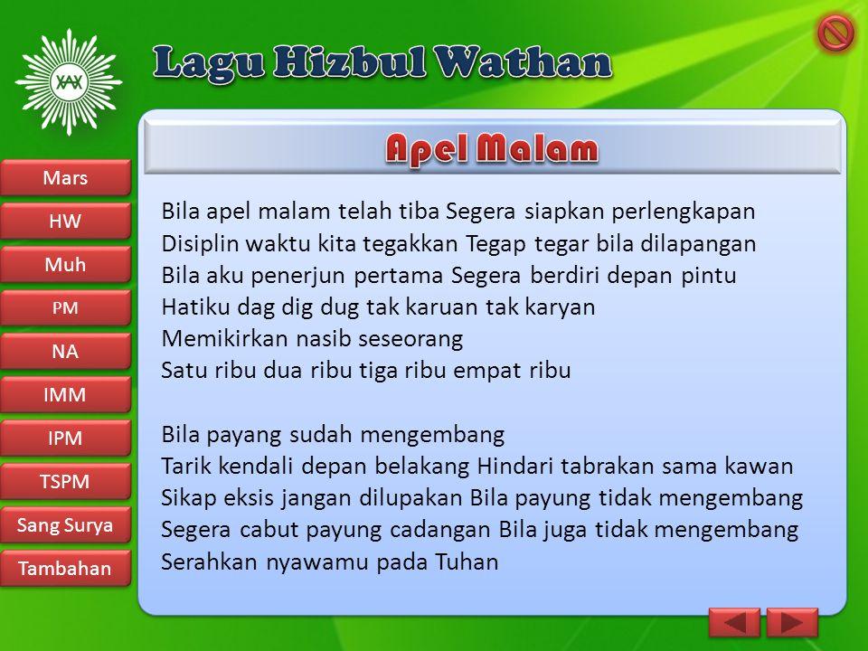 Lagu Hizbul Wathan Apel Malam