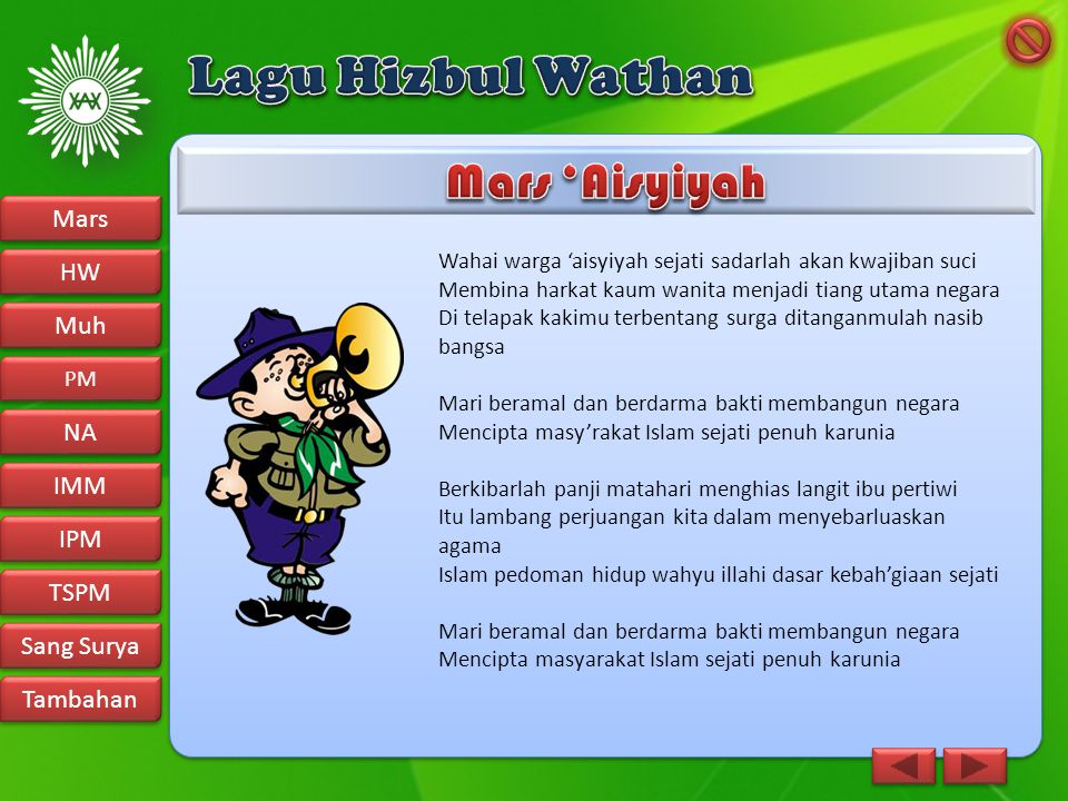 Lagu Hizbul Wathan Mars 'Aisyiyah Mars HW Muh NA IMM IPM TSPM