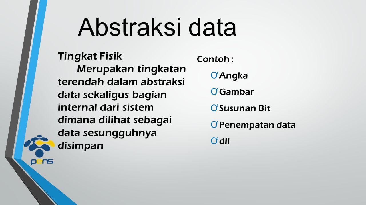 Abstraksi data Tingkat Fisik