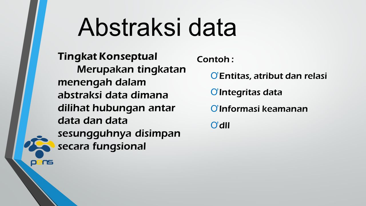 Abstraksi data Tingkat Konseptual