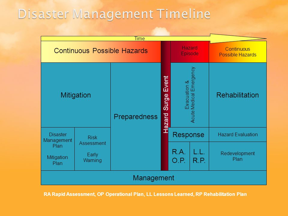 Disaster Management Timeline