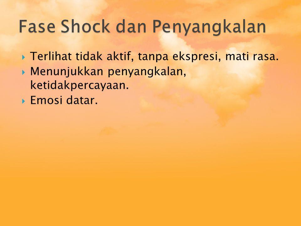 Fase Shock dan Penyangkalan