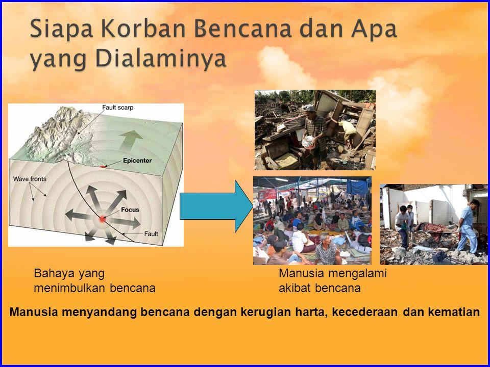 Siapa Korban Bencana dan Apa yang Dialaminya