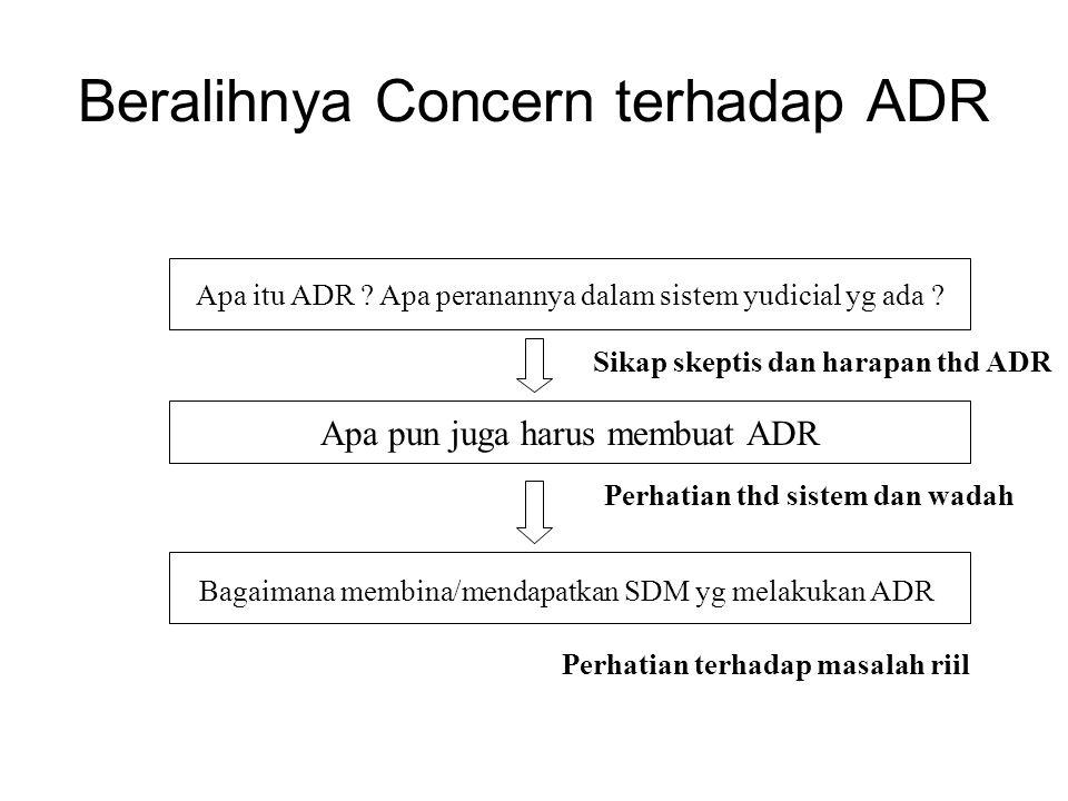 Beralihnya Concern terhadap ADR