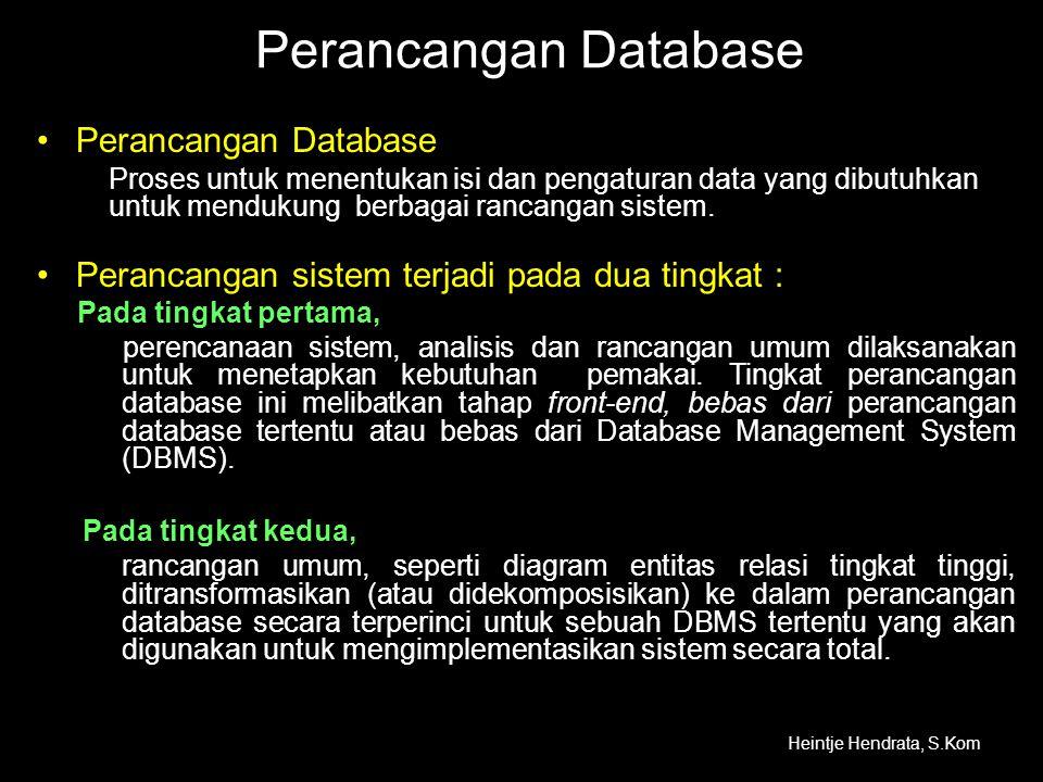 Perancangan Database Perancangan Database