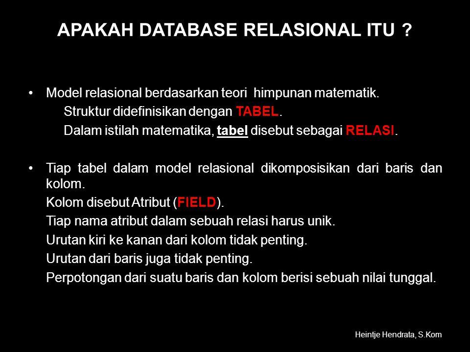 APAKAH DATABASE RELASIONAL ITU