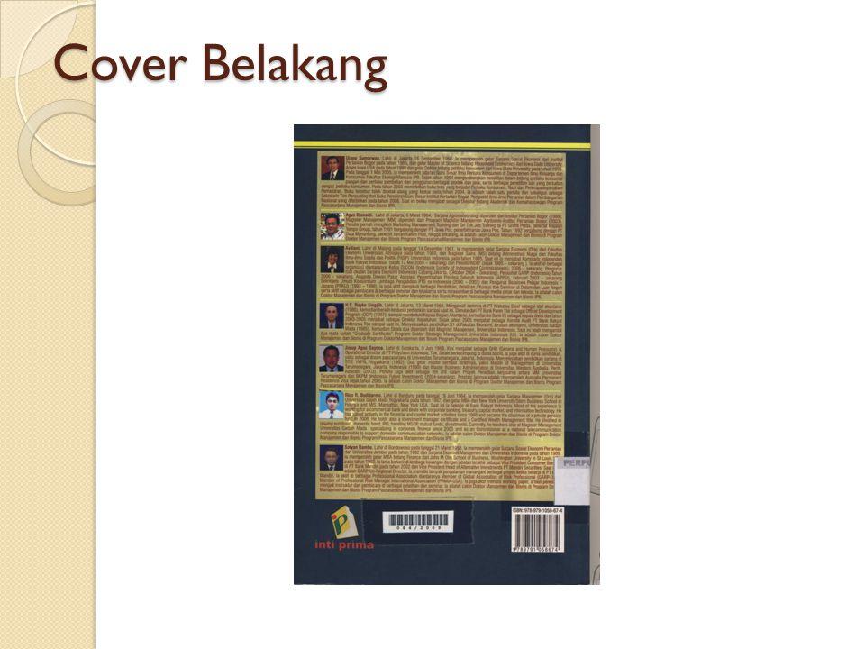 Cover Belakang