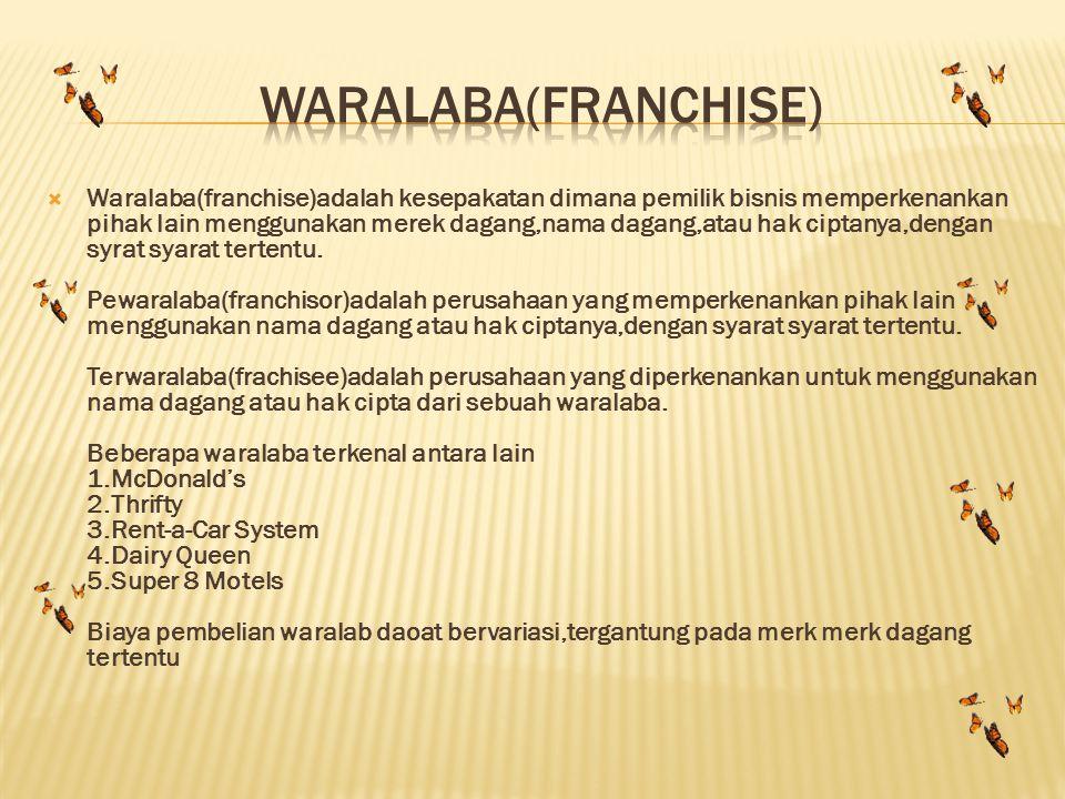 Waralaba(franchise)