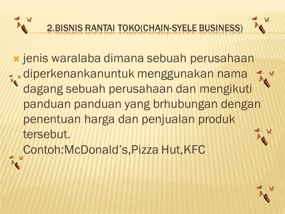 2.bisnis rantai toko(chain-syele business)