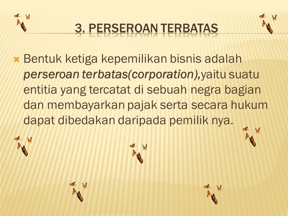 3. Perseroan terbatas