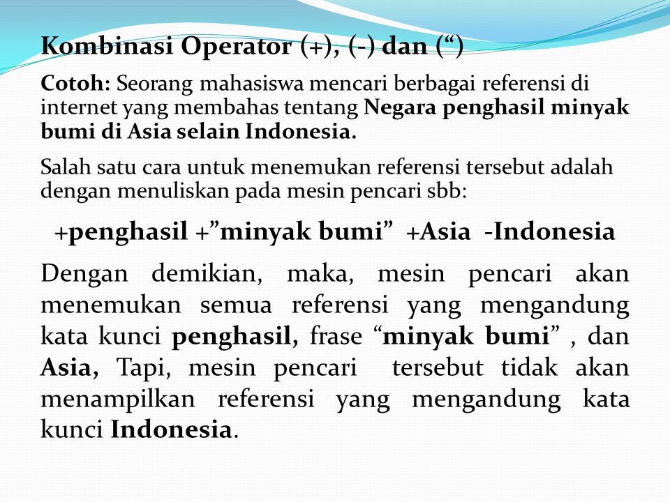 +penghasil + minyak bumi +Asia -Indonesia