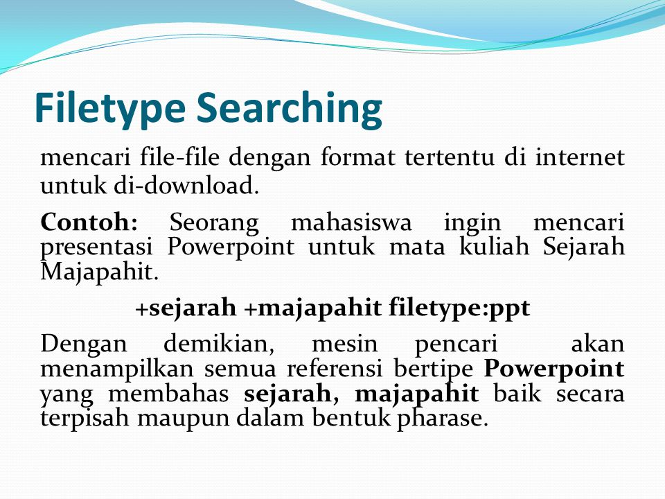 Filetype Searching