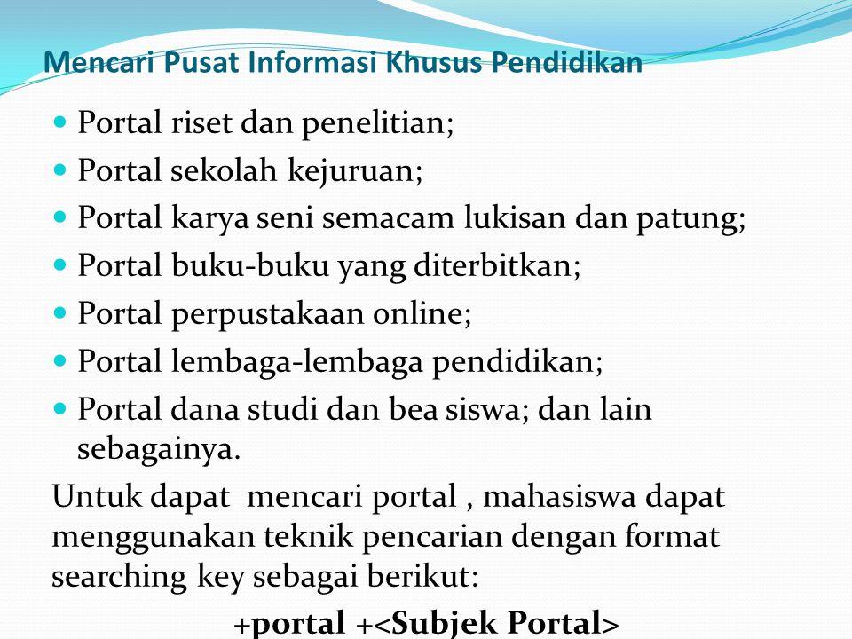 Mencari Pusat Informasi Khusus Pendidikan