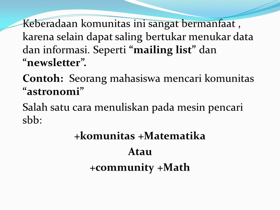 +komunitas +Matematika