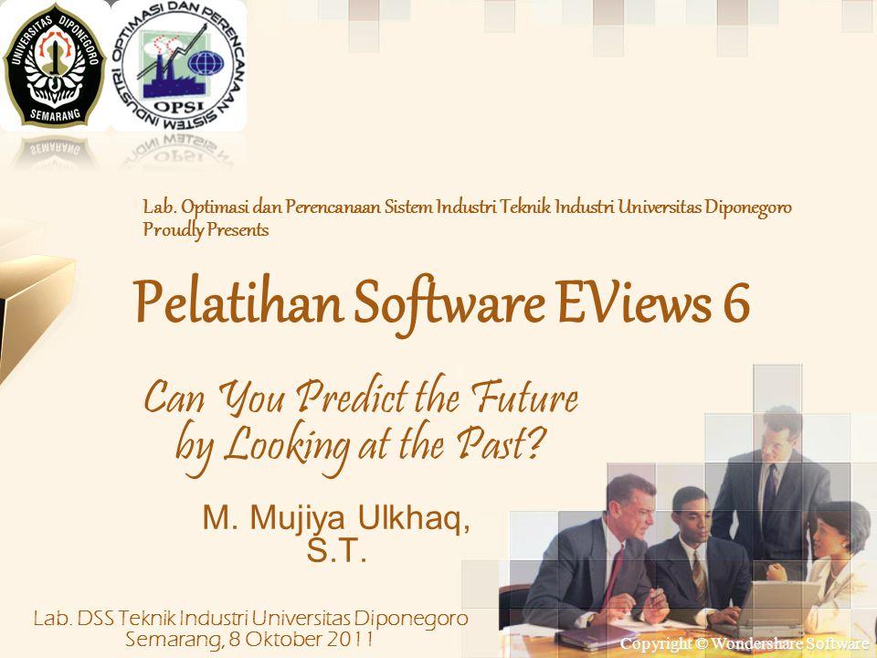 Pelatihan Software EViews 6
