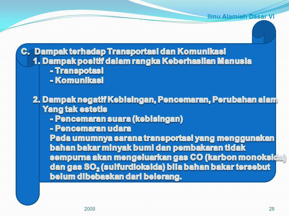 C. Dampak terhadap Transportasi dan Komunikasi