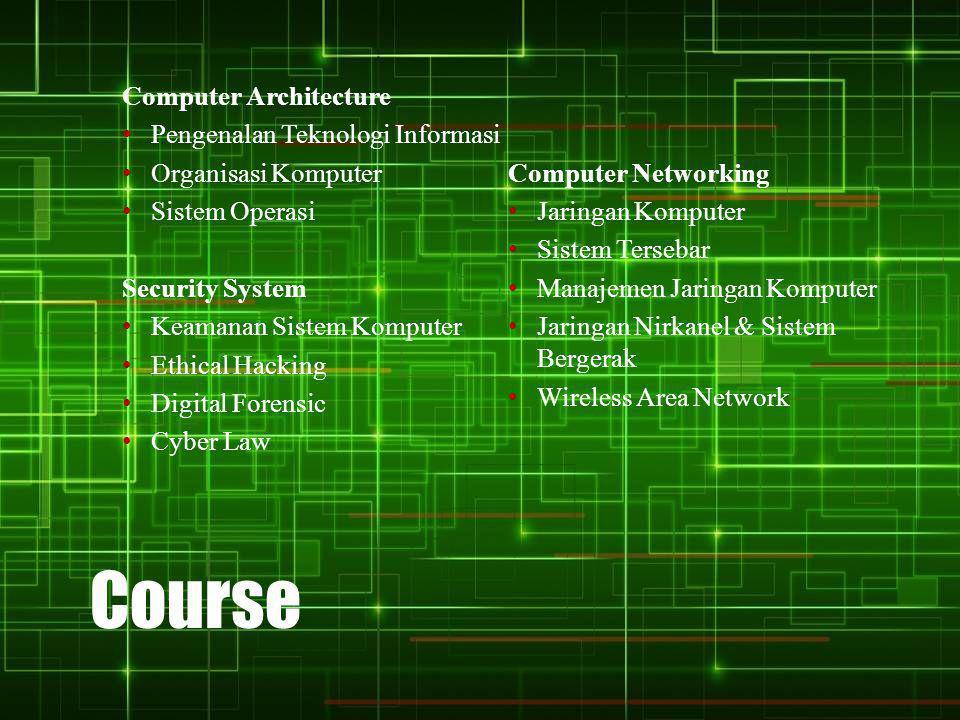 Course Computer Architecture Pengenalan Teknologi Informasi
